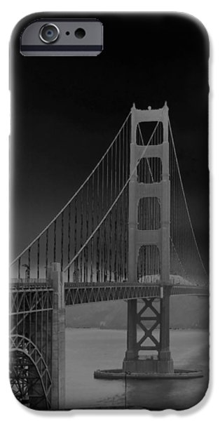 Sausalito iPhone Cases - Golden Gate Bridge to Sausalito iPhone Case by Connie Fox