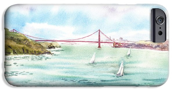 Sausalito iPhone Cases - Golden Gate Bridge View From Point Bonita iPhone Case by Irina Sztukowski
