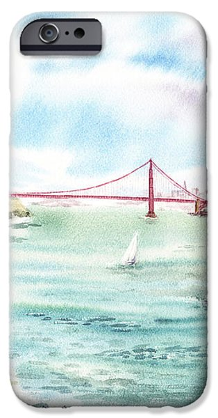 Golden Gate Bridge View From Point Bonita iPhone Case by Irina Sztukowski