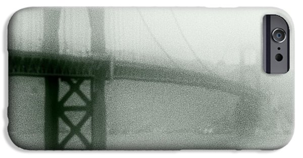 Alcatraz iPhone Cases - Golden Gate Fog iPhone Case by Daniel Hagerman