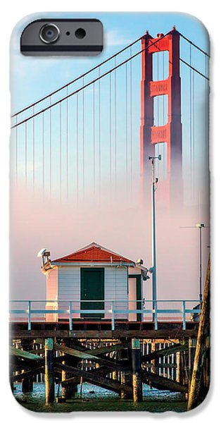 Bill Gallagher iPhone Cases - Golden Gate in the Fog II iPhone Case by Bill Gallagher