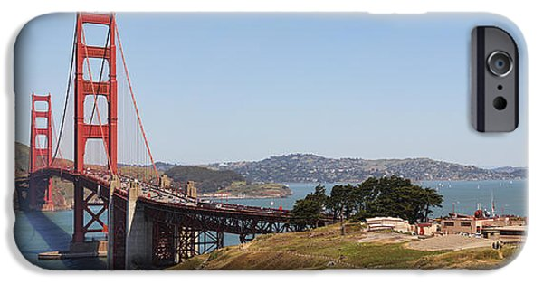 Sausalito iPhone Cases - Golden Gate Panorama 7 iPhone Case by Jack Schultz