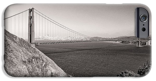 Golden Gate iPhone Cases - Golden Gate Sepia iPhone Case by Scott Norris