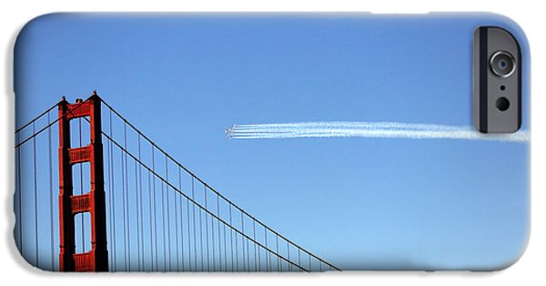 Angel Blues iPhone Cases - Golden Gate Stream  iPhone Case by Chuck Kuhn