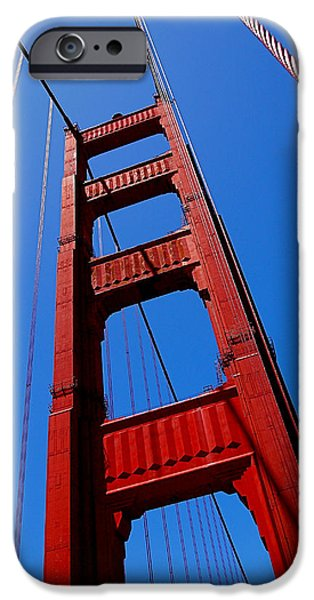 Golden Gate iPhone Cases - Golden Gate Tower iPhone Case by Rona Black
