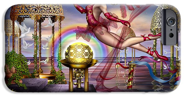 Gypsy Digital iPhone Cases - Golden Gazebos iPhone Case by Ciro Marchetti