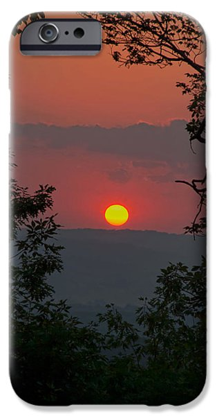 Upstate New York iPhone Cases - Golden Glow Sunset Landscape iPhone Case by Christina Rollo
