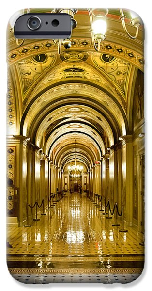 The White House Photographs iPhone Cases - Golden Government iPhone Case by Greg Fortier