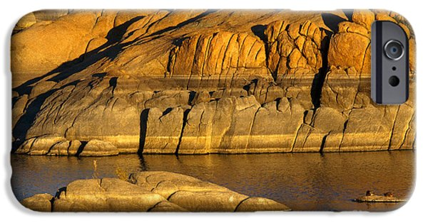 Dells iPhone Cases - Golden Granite Glow iPhone Case by Mike  Dawson