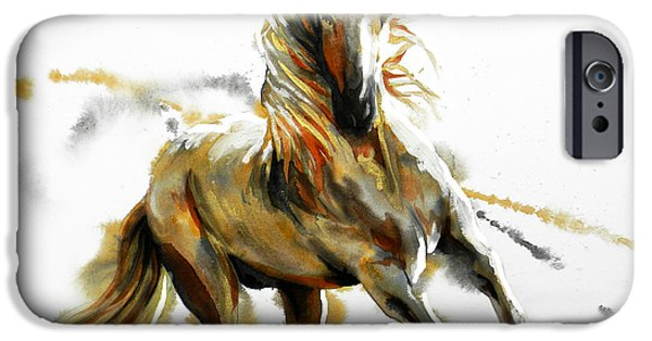 Unique Drawings iPhone Cases - Dorado In White iPhone Case by Jose Espinoza