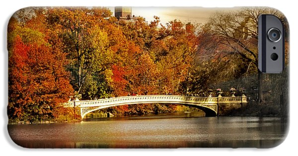 Bow Bridge iPhone Cases - Golden Hour at Bow Bridge iPhone Case by Jessica Jenney