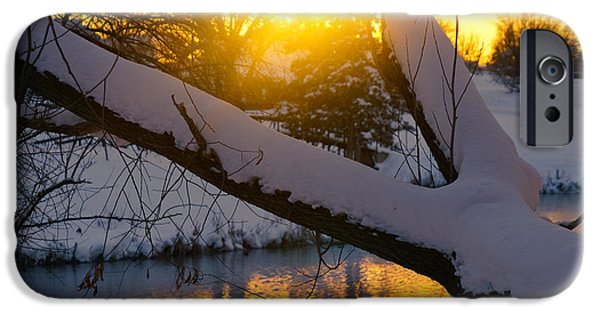 Snow iPhone Cases - Golden hours iPhone Case by Gloria Pasko