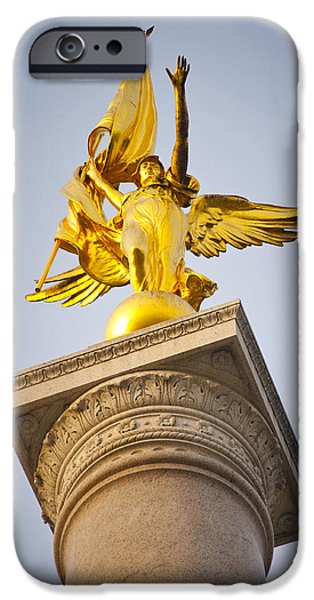 Warrior Goddess Photographs iPhone Cases - Golden lady iPhone Case by Rob Thompson