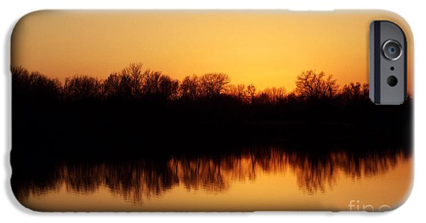R. Mclellan Photography iPhone Cases - Golden Lake Reflections iPhone Case by R McLellan