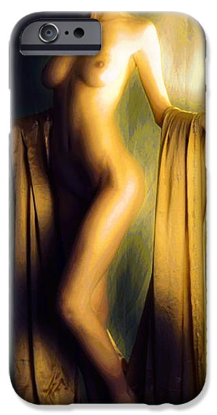 Michael Mixed Media iPhone Cases - Golden Light iPhone Case by M and L Creations
