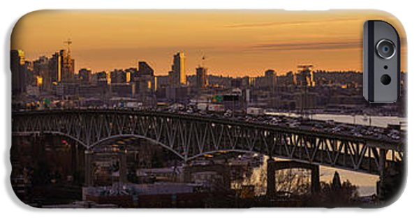 Capitol Hill iPhone Cases - Golden Light on the City Seattle iPhone Case by Mike Reid