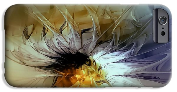 Floral Digital Art Digital Art Digital Art iPhone Cases - Golden Lily iPhone Case by Amanda Moore