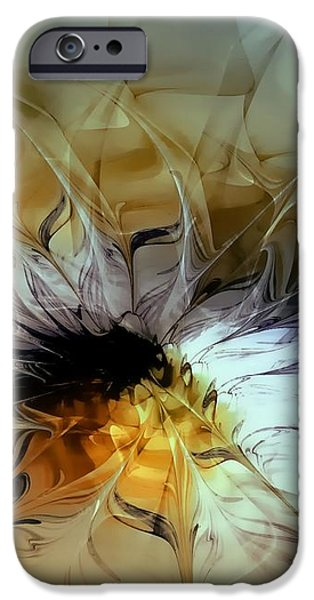 Golden Lily iPhone Case by Amanda Moore
