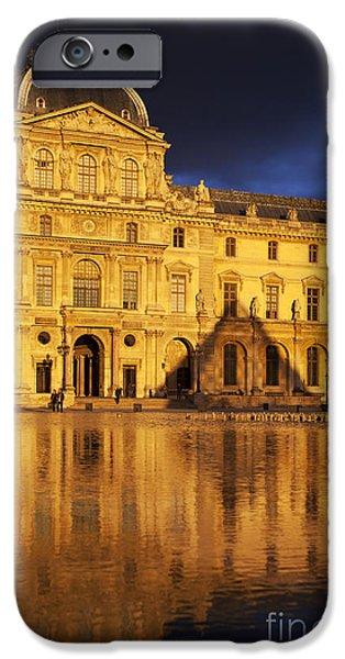 Golden Louvre - Paris iPhone Case by Brian Jannsen