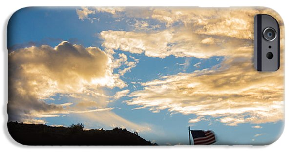 American Conservative Party iPhone Cases - Golden Moment For Our Flag iPhone Case by Carolina Liechtenstein