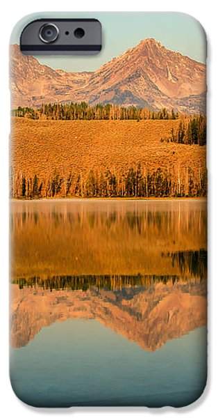 Golden Mountains  Reflection iPhone Case by Robert Bales