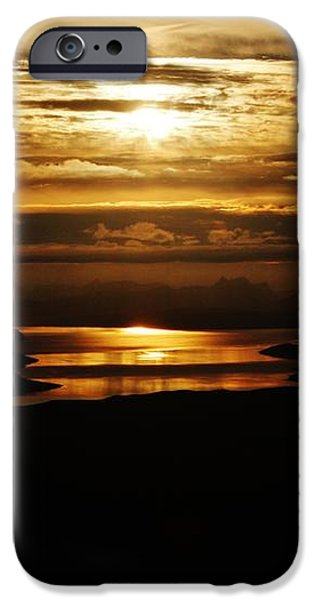Golden Norse Fjordland Sunset iPhone Case by David Broome
