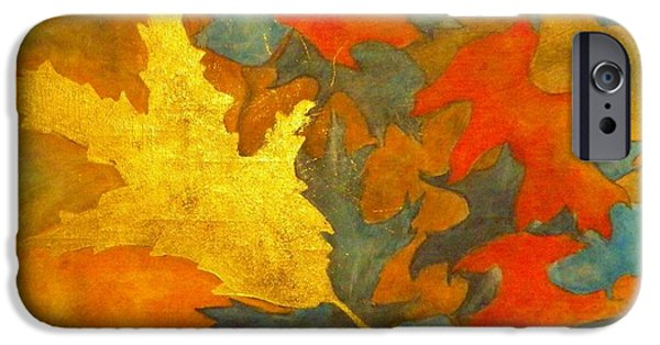 Boardroom Mixed Media iPhone Cases - Golden Oak iPhone Case by David Raderstorf