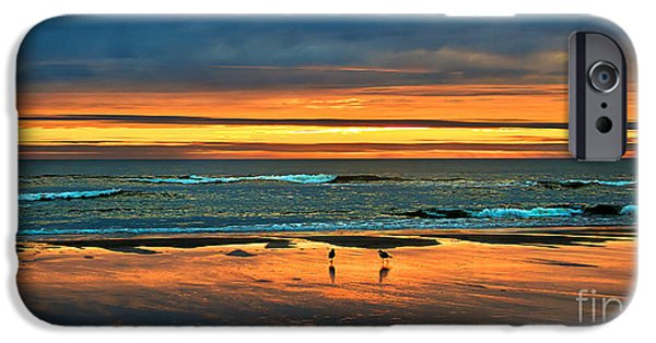 Cape Disappointment iPhone Cases - Golden Pacific iPhone Case by Robert Bales