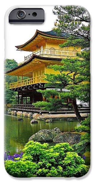 Golden Pavilion - Kyoto iPhone Case by Juergen Weiss