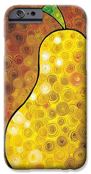 Fruit iPhone Cases - Golden Pear iPhone Case by Sharon Cummings