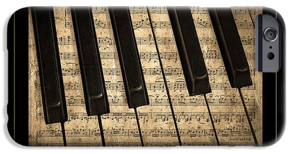 Piano Photographs iPhone Cases - Golden Pianoforte Classic iPhone Case by John Stephens