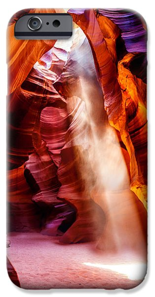 Red Photographs iPhone Cases - Golden Pillars iPhone Case by Az Jackson