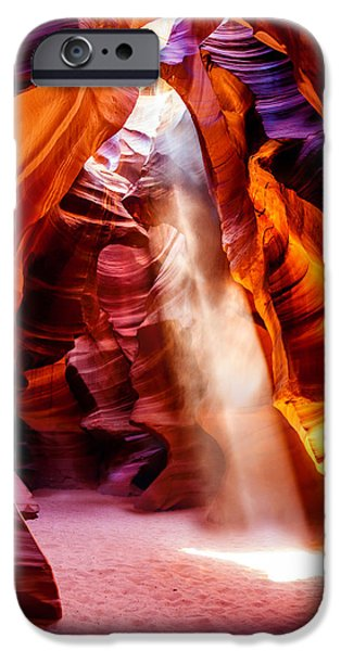 Flowing iPhone Cases - Golden Pillars iPhone Case by Az Jackson