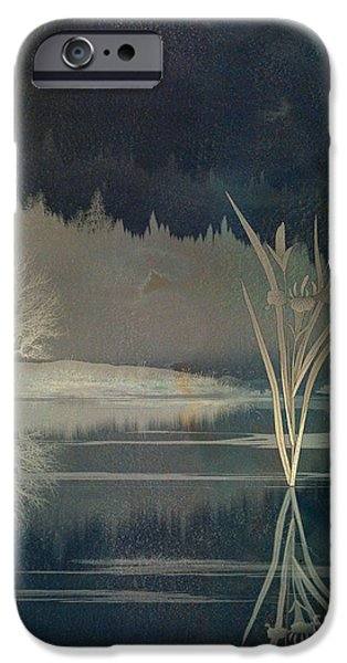 Awak Mixed Media iPhone Cases - Golden Pond Lily iPhone Case by Bedros Awak