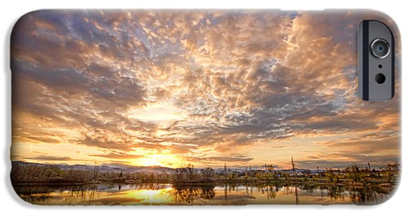 Epic iPhone Cases - Golden Ponds Scenic Sunset Reflections 5 iPhone Case by James BO  Insogna
