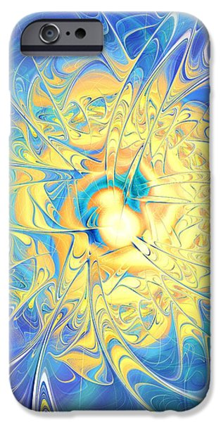 Abstracts iPhone Cases - Golden Reflection iPhone Case by Anastasiya Malakhova
