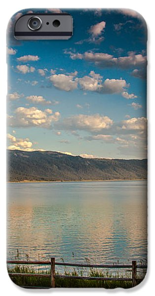 Golden Reflection On Lake Cascade iPhone Case by Robert Bales