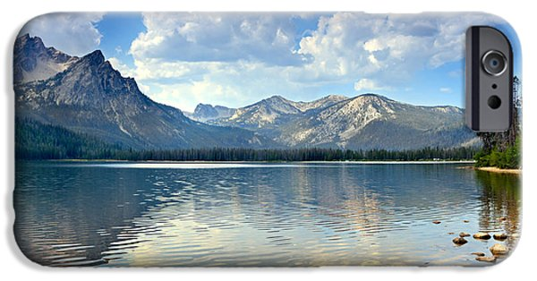 Haybale iPhone Cases - Golden Reflections On Stanley  Lake iPhone Case by Robert Bales