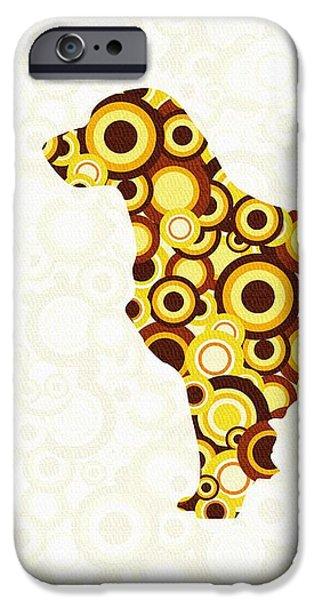 Dogs iPhone Cases - Golden Retriever - Animal Art iPhone Case by Anastasiya Malakhova