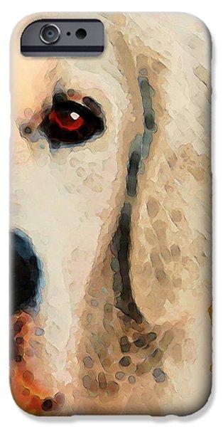 Dog Rescue iPhone Cases - Golden Retriever Half Face by Sharon Cummings iPhone Case by Sharon Cummings