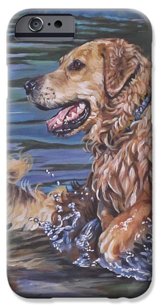 Recently Sold -  - Puppies iPhone Cases - Golden Retriever  iPhone Case by Lee Ann Shepard