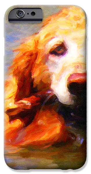 Golden Retriever - Painterly iPhone Case by Wingsdomain Art and Photography
