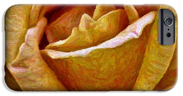 Gold Rose iPhone Cases - Golden Rose iPhone Case by Walt Foegelle
