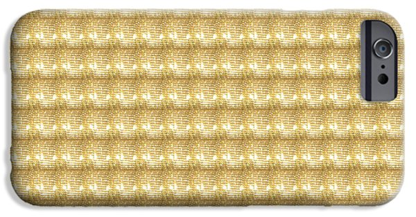 Politician iPhone Cases - Golden SPARKLE Tone Pattern Unique Graphic V2 iPhone Case by Navin Joshi