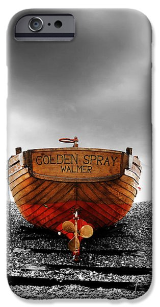 Fishing Boat iPhone Cases - Golden Spray iPhone Case by Mark Rogan