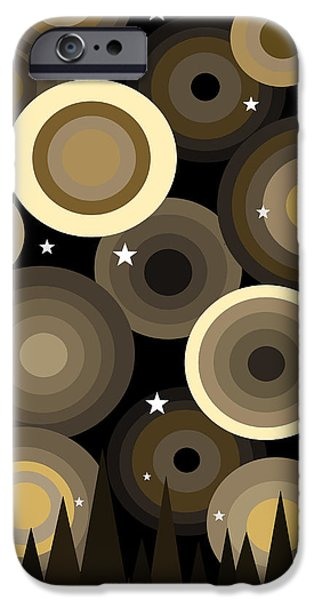 Stray iPhone Cases - Golden Starry Night iPhone Case by Val Arie