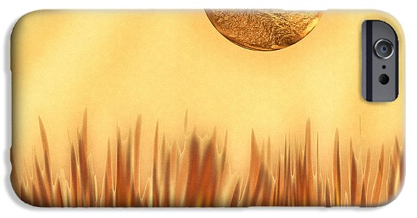 Business Digital Art iPhone Cases - Golden Summers iPhone Case by Wendy J St Christopher