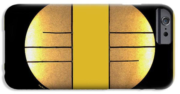 Bamboo House iPhone Cases - Golden Sun Diptych iPhone Case by Cheryl Young