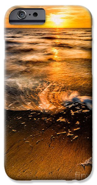Turbines iPhone Cases - Golden Sunset iPhone Case by Adrian Evans