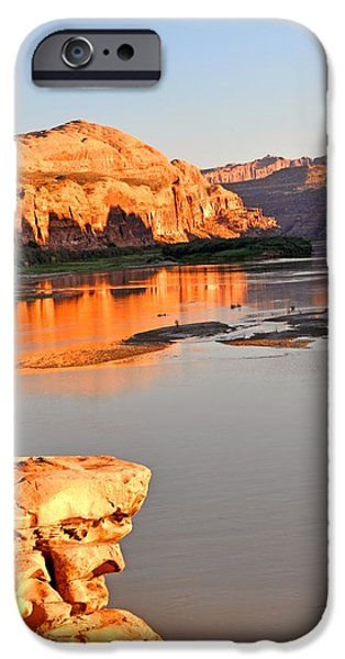 Golden Sunset on the Colorado iPhone Case by Marty Koch